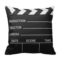 Just SOLD! - Lights Camera Action Pillow