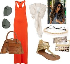 """orange sunset"" by amy-mcelhaney-butler on Polyvore"