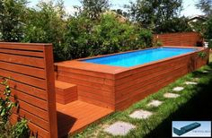 Man Converts Dumpster into Deluxe Backyard Pool (Video) : TreeHugger
