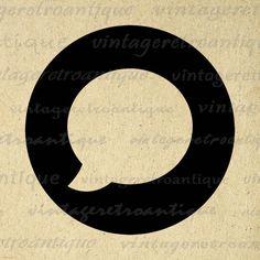 Printable Image Talk Bubble Digital Speech Balloon Graphic Download Vintage Clip Art Jpg Png Eps  HQ 300dpi No.4412 @ vintageretroantique.etsy.com #DigitalArt #Printable #Art #VintageRetroAntique #Digital #Clipart #Download
