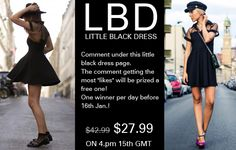 "Romwe little black dress for Valentine's day! Only $27.99, up to 35%off!  24 hours only on 16th January. Comment under the product page and try to get as more likes as you can! The comment which gets the most ""likes"" will be prized with a free one as gift! We will choose one lucky girl every day before 16th Jan.! Already started! Don't miss, girls! Go: http://www.romwe.com/romwe-mesh-peak-collar-little-black-skater-dress-p-76761.html"