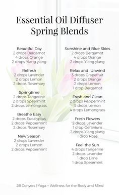 Celebrate all the things we love about spring with essential oil spring diffuser blends. Use the aromatic qualities essential oils to capture the aromas and feelings of spring in your home. Click through to download the free diffuser blend recipes. Pin it now, share it with a friend. #essentialoils #spring #wellness #healthyliving #naturalliving #selfcare