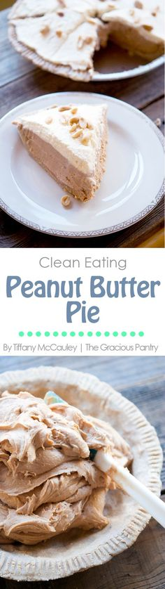 This delicious pie is filled delicious authentically peanut butter flavor. Nothing but whole-food real-food ingredients! This is what good food tastes like! Grain Free option!
