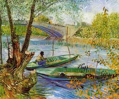 Vincent van Gogh - Fishing in the Spring - Pont de Clichy