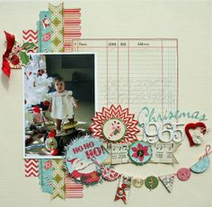 #papercraft #scrapbook #layout   Christmas 1965 - Two Peas in a Bucket