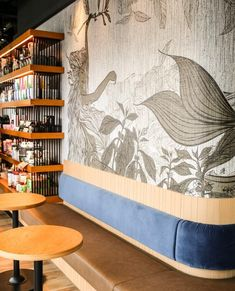 Illustrated wallpaper representing the famous mermaid of Starbucks for the new coffee shop in Hong Kong. Starbucks Wallpaper, Starbucks Siren, Instagram Wall, Victoria Harbour, Coffee Shop, Art Work, Hong Kong, Arts And Crafts, Mermaid