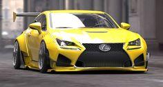 Lexus RC Rocket Bunny at SEMA 2014 #RacingFriday Every Week at http://blog.rvinyl.com/2015/05/15/racingfriday-ken-gushi-door-vs-tyler-mcquarrie/