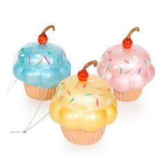 Cupcake Glass Ornament Set.