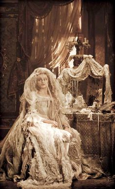 Kate thinks this picture is important because it characterizes Miss Havisham as insane and abandoned...Helena Bonham Carter (Bellatrix Lestrange) is perfect for the role