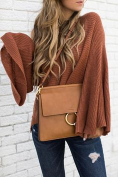 bell sleeve sweater, winter fashion 2017, style blogger pictures