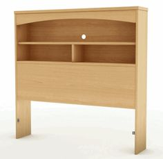 Add luxurious style to your home with this beautiful twin bookcase headboard. Featuring a beautiful natural maple finish and an attractive design, this gorgeous twin bookcase headboard fits beautifull Bookcase Headboard, Twin Headboard, Headboard Ideas, Cushion Headboard, Diy Headboards, Wood Headboard, Home Office, Armoire, Bed Images