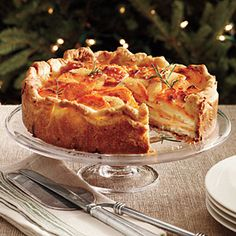 Impressive Holiday Potato Side Dish   Potato Gratin with Rosemary Crust   SouthernLiving.com