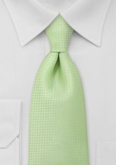 Light Lime Green Mens Tie