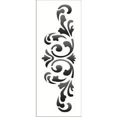 Estêncil Wall Para Pintura Simples 17x42 Arabesco Colonial Opa1221 - Opa
