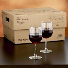 Wine Glasses for Entertaining, Set of 12 | World Market