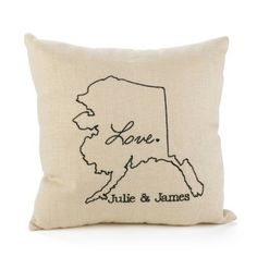 State of Bliss Linen Throw Pillow-Personalized