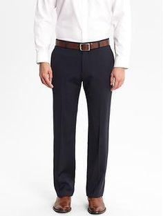 Tailored Slim-Fit Navy Italian Wool Suit Trouser | Banana Republic $175.00