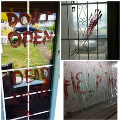 The Walking Dead inspired Halloween blood decorations