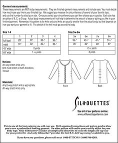 Silhouette Patterns, Inc. - Elie's Top
