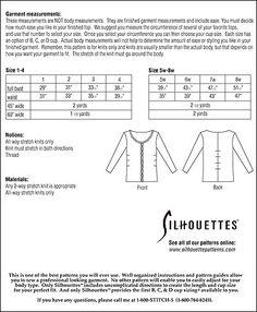 Silhouette Patterns, Inc. - Elie's Top