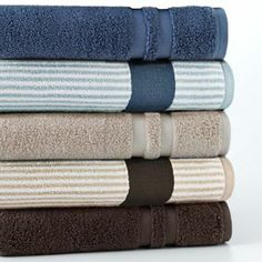 Kohls Bath Towels Adorable Chaps Home Stone Harbor Turkish Cotton Bath Towels  Bath Towels Inspiration