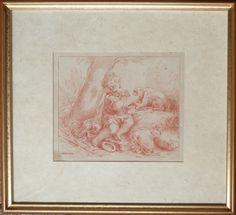 Encadrement - gravure à la sanguine par Demarteau Les Oeuvres, Antique Prints, Antique Maps, Character Portraits, Picture Frame, History, Drawing Drawing