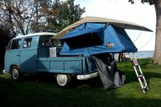 A VW Tent Topped with a Ayer model tent unit