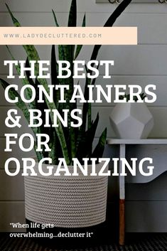 If you want the trendiest and most functional organizing containers then you have found the right spot! From glass jars to woven baskets we found them all! College Closet Organization, Playroom Organization, Container Organization, Organization Hacks, Freezer Organization, Dorm Room Storage, Organizing Your Home, Organizing Tips, Declutter Your Mind