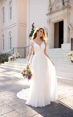 Robe de mariée décontractée à manches longues - Robe de mariée Stella York, #decontractee #longues #manches #mariee #stella