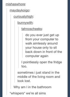 We're all sims...