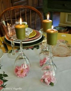 I've seen this before at a wedding and it was very pretty,  love the idea, except with purple flowers!