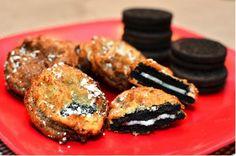 Deep Fried Oreos | TheBestDessertRecipes.com