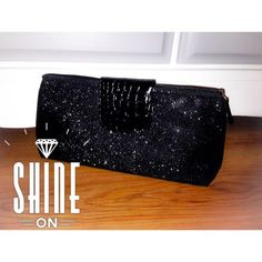 Host Picksparkly Black Clutch