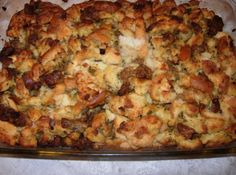 Mom M's Sausage Stuffing #justapinch #recipe