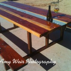 Picnic Table with Center Cooler