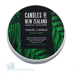 NZ Soy Wax Travel Tin Candle - Ponga Fern Scented | Shop New Zealand NZ$ 23.90