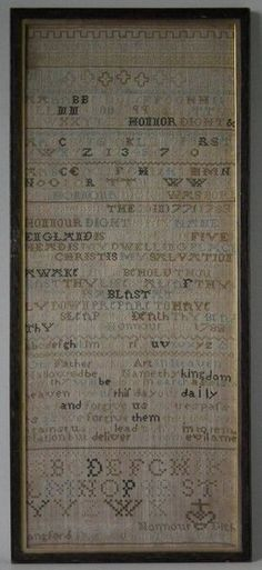 Antique Sampler, 1786, by Honnour Dight | ID#21119 | Madelena