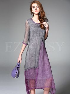 Shop for high quality Vintage Silk Print Hit Color Maxi Dress online at cheap prices and discover fashion at Ezpopsy.com