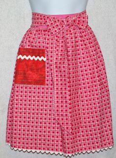 Pink with hearts Adult Apron