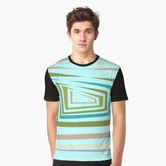 'Multi-color abstract design' Graphic T-Shirt by SeminaByRoselia My T Shirt, Bold Colors, Shirt Designs, Graphic Design, Art Prints, Abstract, Printed, Awesome, Mens Tops