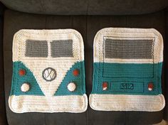 I have a slight VW obsession, so I'm always on the hunt for good V-dub crochet patterns, and this one certainly fit the bill! It was fun to try my hand at fair isle in rows, as I'd only done it in...