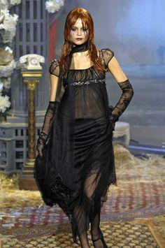 Goth bride | John Galliano Fall 2007