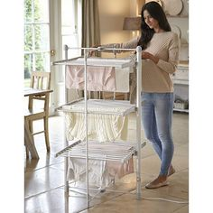 HEATED CLOTHES AIRER DRIES YOUR PRIMARK CLOTHES AND DELICATES FOR 5P AND HOUR! HOLDS 15KG OF WASHING- THATS MORE THAN 2 FULL LOADS!!! DRIES QUILTS AND PILLOWS TOO!!!