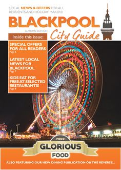 Blackpool City Guide | What's on Blackpool | The Blackpool City Guide is a brand new free exclusive publication offering informative information local services, discounts and vouchers on one side. Flip the booklet over, Food Glorious Food…Information on premier restaurants in the Blackpool and Fylde Area. The Blackpool City Guide is all about Blackpool! Places to go, Eat, Money off vouchers and much more… in a handy Booklet for our Residents and Tourists visiting our City.