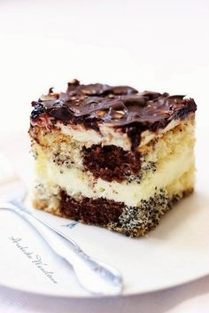 Polish Desserts, Polish Recipes, Sweet Recipes, Cake Recipes, Dessert Recipes, Hungarian Cake, Specialty Cakes, Food To Make, Bakery