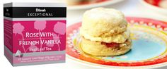 Rose and French Vanilla Scones, amongst other tea-related recipes - perfect for a high class High Tea! Mmmmmmmmmmmmmmmmmmm Thanks Dilmah French Tea Parties, Tea Ideas, French Vanilla, High Class, High Tea, Teas, Scones, Pastries, Tea Party
