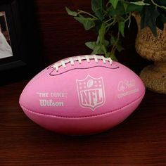 Wilson NFL Pink Mini Rubber Football