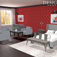 Scarlet suburban #bedroomdesign #bedroomdecor #bedroom #bedroomgoals #housedesign #interiordecor #dreamhouse #home #interiordecorating #homedesigngame #homedecoration #roomdesign #roomgoals #popofcolors #popofcolor #hintofcolor #colorfulbedroom #redthemedroom - Architecture and Home Decor - Bedroom - Bathroom - Kitchen And Living Room Interior Design Decorating Ideas - #architecture #design #interiordesign #diy #homedesign #architect #architectural #homedecor #realestate #contemporaryart…