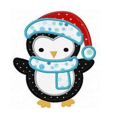 Winter Penguin Applique - 3 Sizes!   What's New   Machine Embroidery Designs   SWAKembroidery.com Fun Stitch