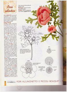 Hobby lavori femminili - ricamo - uncinetto - maglia: tanti fiori uncinetto